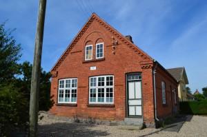 Den lille skole rummer mange fine bygningsdetaljer.