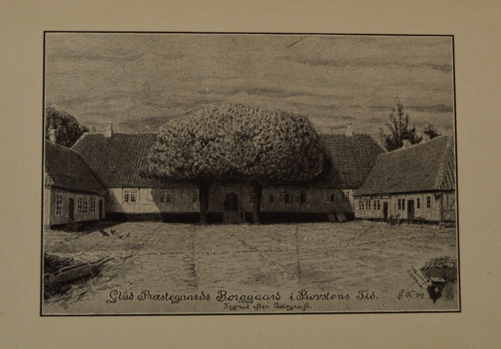 Glud præstegård bygget i 1741 og nedbrudt i 1936