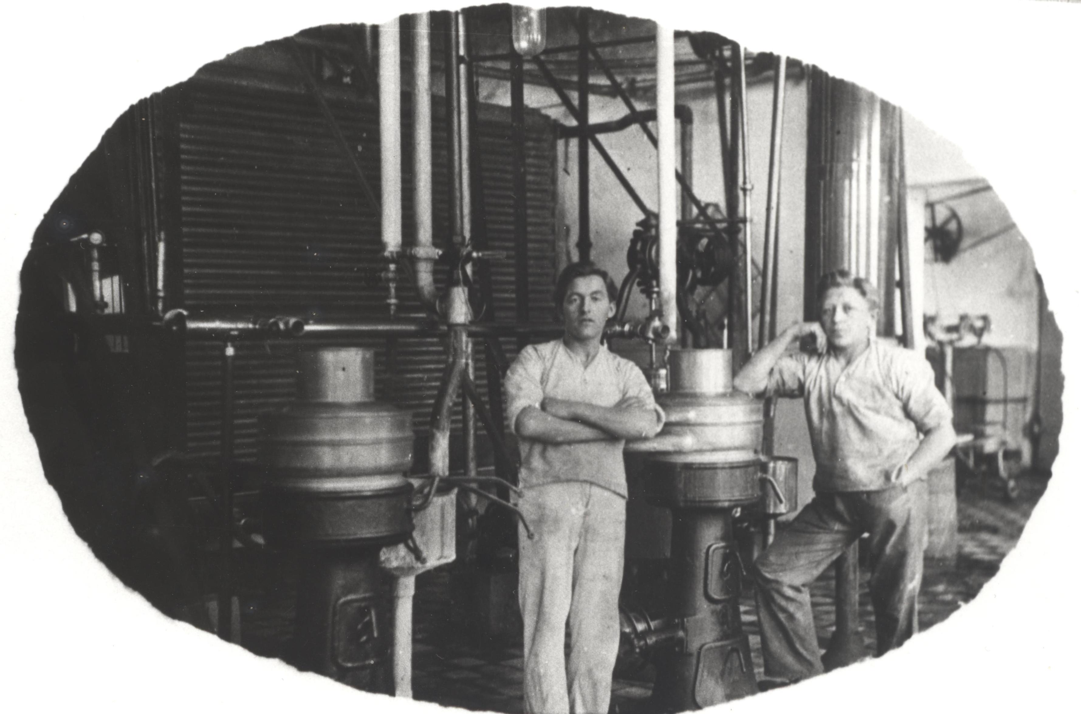 Alfa Laval centrifugerne var det tekniske grundlag for den store smørproduktion.