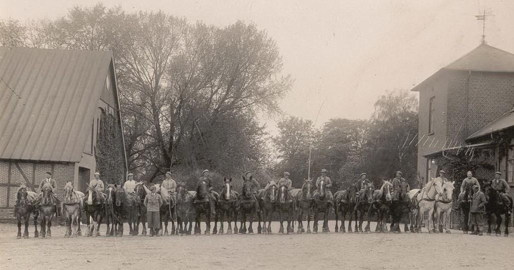 Barritskovs ansatte i markbruget, ca. 1935