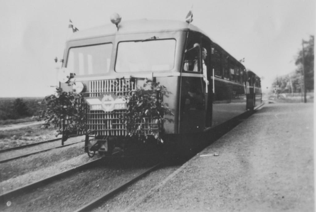 Stenderup Station - ved jernbanens 70 års jubilæum år 1954