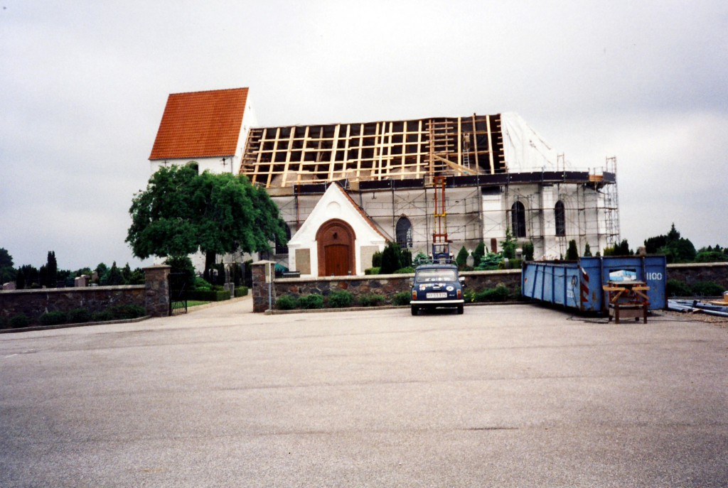 Nyt blytag - fra restaureringen 1994-97