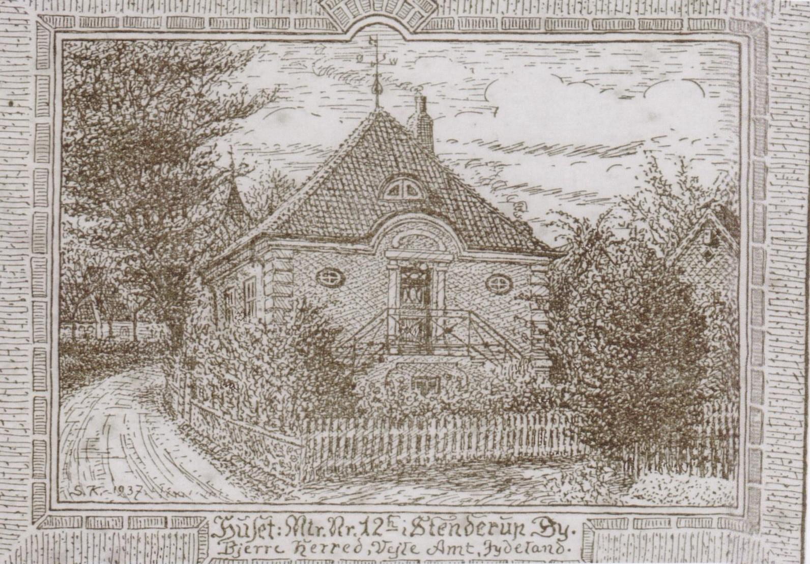 Tegning af Søren Knudsen
